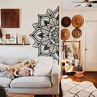 "Декор для стен в спальню. Панно из металла 3мм ""Мандала цветок"""