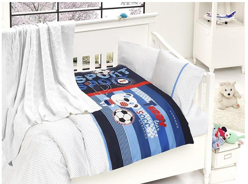 Детское постельное белье c вязаным пледом First Choice Nirvana Tinny N 404
