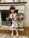 Рожева вишита сукня для Ваших солодких донечок, фото 4