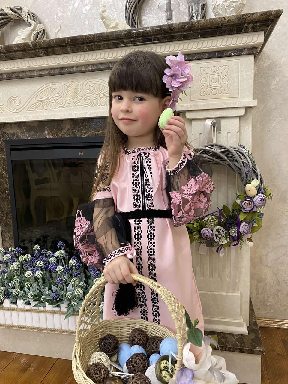 Рожева вишита сукня для Ваших солодких донечок