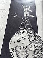 Обои Космос детские на луне флизелиновые Man on the moon Dimense print 155 см х 250 см