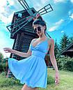 Жіноче Літнє Плаття з шовку з відкритою спиною Блакитне, фото 2