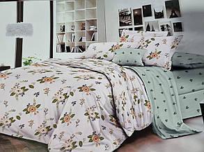 Постельное белье бязь голд люкс 220x180 см двуспальный комплект с цветами