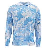 Блуза Simms SolarFlex Hoody Print Cloud Camo Blue М Є розміри