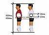 Футболист для настольного футбола 12.7мм белый, фото 4