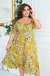 Женственное платье в цветочный принт (Батал), фото 3