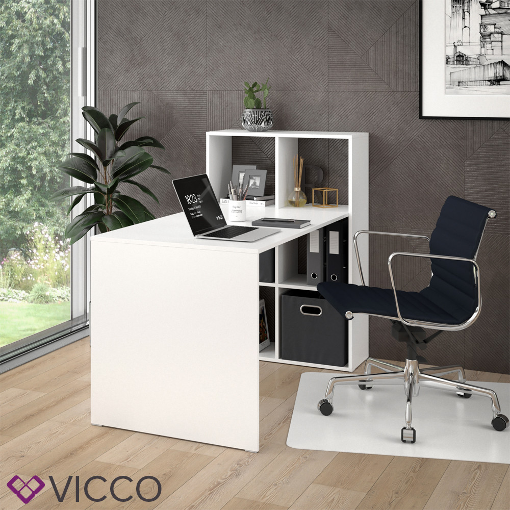 Стол-стеллаж 72x144 Vicco Emir, белый