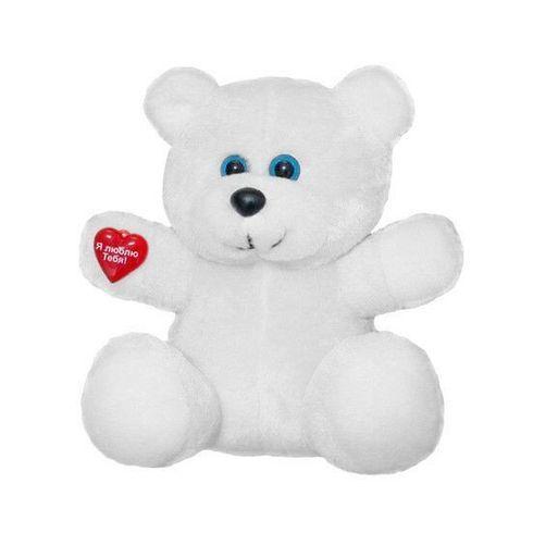 М'яка іграшка Білий Ведмедик з сердечком 23 см