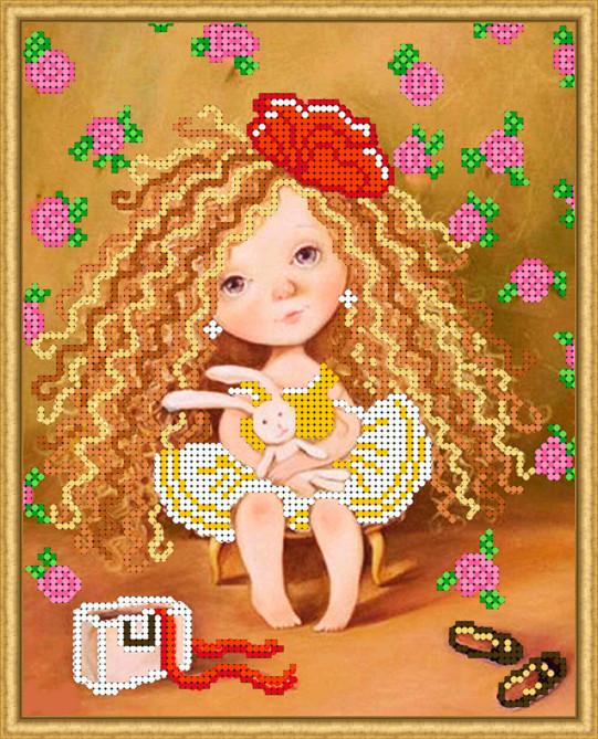 Вышивка бисером, Канва схемы картины детская вышивка Зайчик