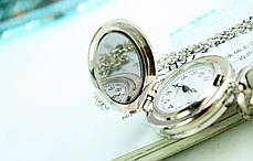 Годинник кулон на ланцюжку 2 види малюнка, фото 2