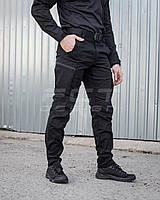 Брюки джинсы  тактические стрейч черные, фото 1