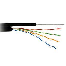 Кабель  КППТ-ВП (100) 4*2*0,51 (UTP-CAT.5E), OK-NET , (CU), OUT на стальной жиле-проводе