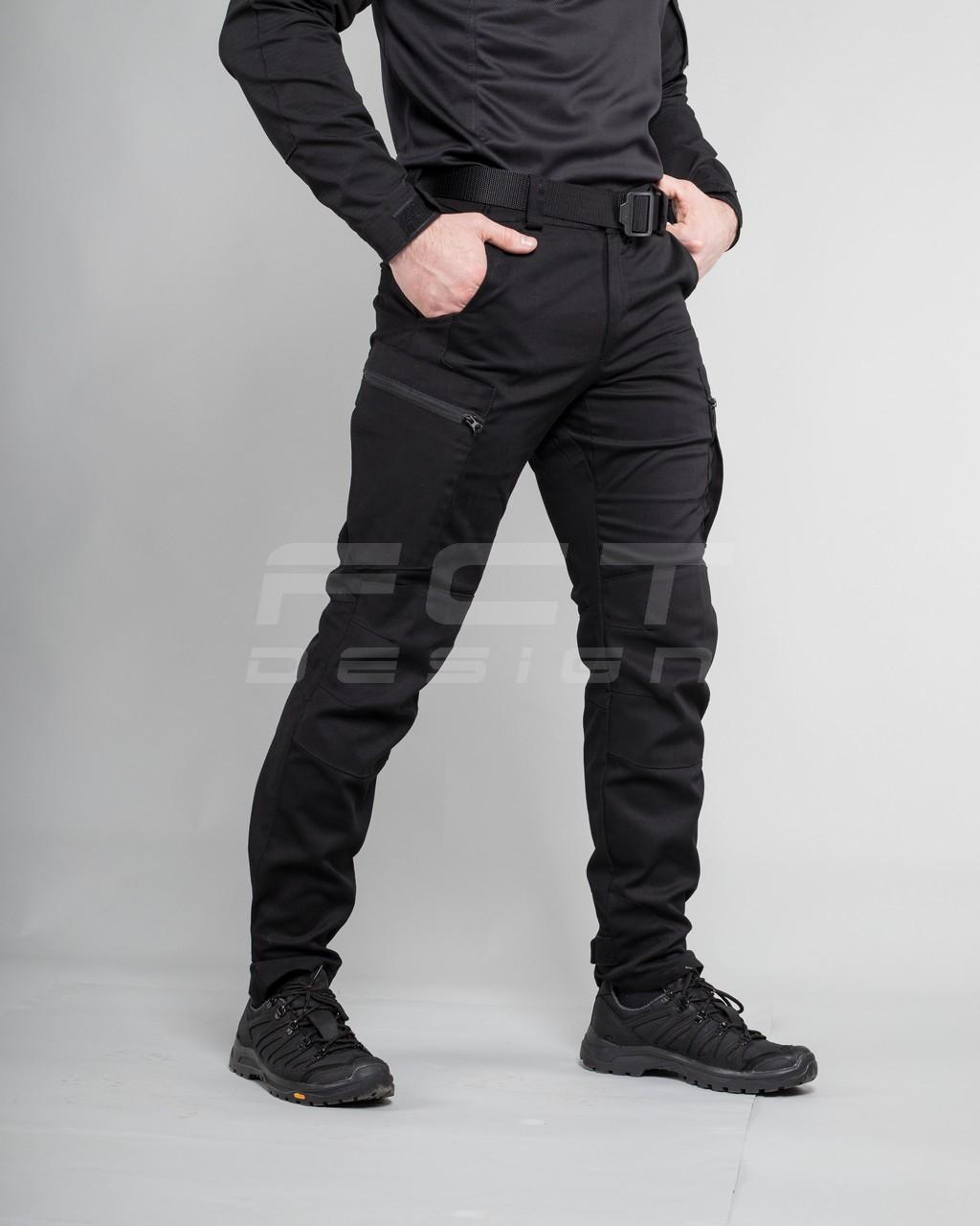 Брюки джинсы тактические стрейч черные
