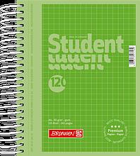 Блокнот Brunnen колледж-блок А6 на спирали в клетку 120 листов 90 г м2 Colour Code обложка Зелена, КОД: