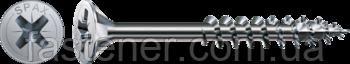 Саморез SPAX с покр. WIROX 5,0х100, частичная резьба, потай, PZ2, 4CUT, упак. 200 шт., пр-во Германия