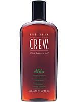 3-в-1 American Crew средство по уходу за волосами и телом Чайное дерево 3-in-1 Shampoo conditioner and body