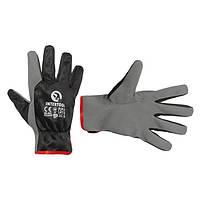 """Шкіряна рукавичка комбінована з високоякісної еко-шкіри і поліестерової тканини 10"""" INTERTOOL SP-0175"""