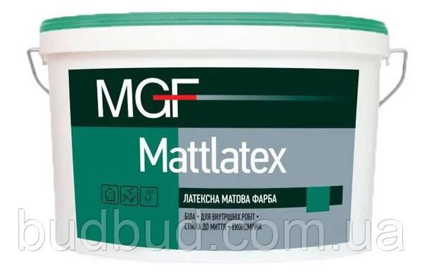 Краска латексная стойкая к мытью MGF Mattlatex M100 14 кг
