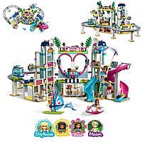 Конструктор детский QMAN Friends Курорт Хартлейк-Сити на 1029 деталей 4 фигурки