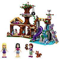 Детский конструктор Спортивный лагерь: Дом на дереве QMAN 739 деталей + 3 мини куклы