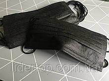 Маска защитная маски защитные Черные с фиксатором на носе