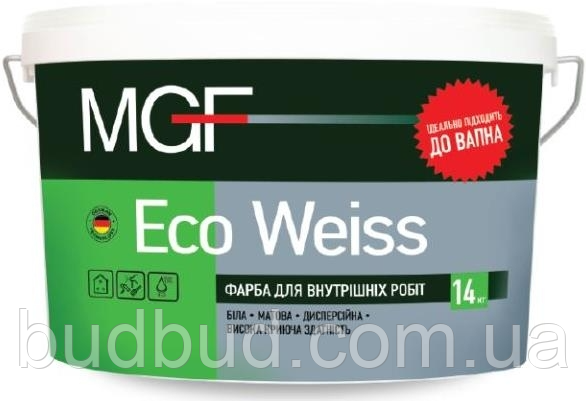 Фарба інтер'єрна  Eco Weiss М1 MGF  14 кг