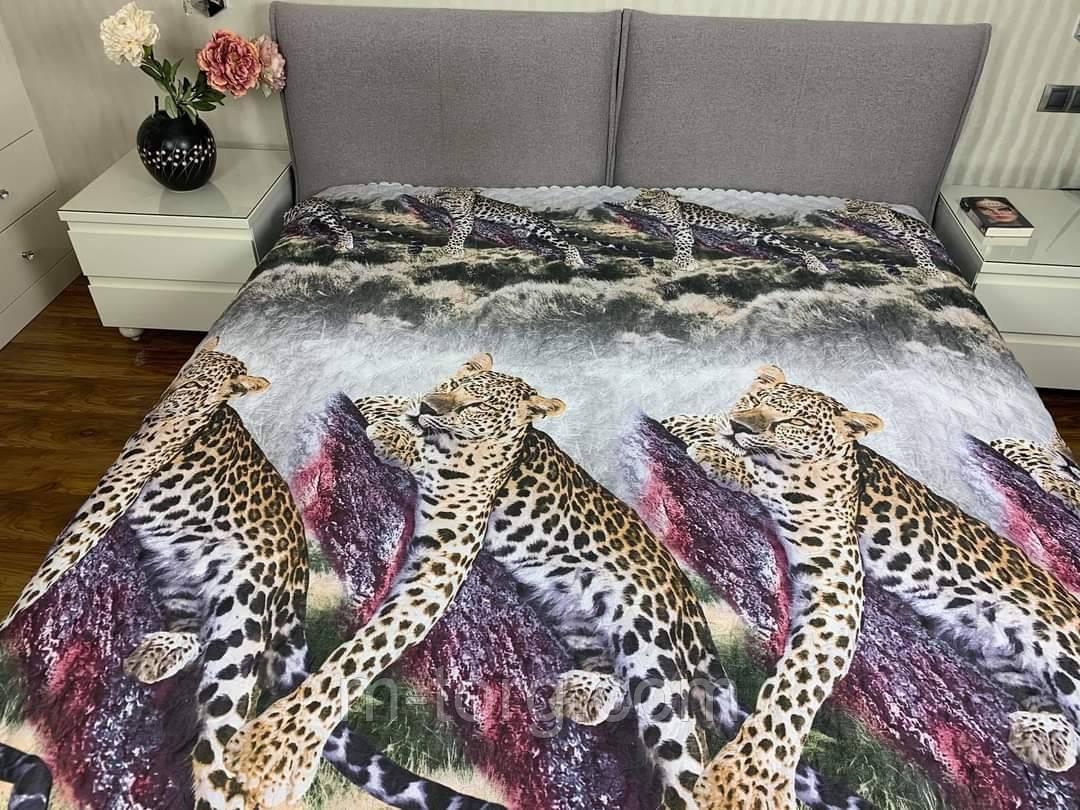 """""""леопарды"""" Летнее одеяло покрывало двуспальный размер 175/205"""