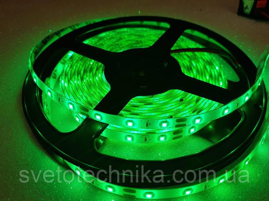 Стрічка 4,8 w в силіконі зелена світлодіодна