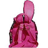 Маленький рюкзак в паетка з вушками, фото 2