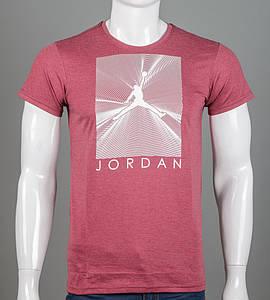 Футболка чоловіча Jordan (2107м), Бордовий меланж