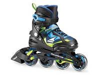 Роликовые коньки Rollerblade Thunder 2020 (черно-голубые)