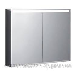 OPTION зеркальный шкафчик 90*70*15см, с подсветкой, двухдверный