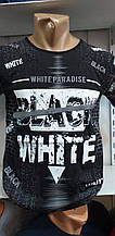 Футболка мужская стильная WHITE PARADIZE размер 48-54 батал купить оптом со склада 7км Одесса