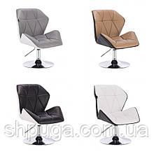 Крісло код 212 еко-шкіра, колір на вибір з каталогу.