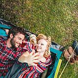 Палатка туристична 2-х місцева для кемпінгу риболовлі природи і відпочинку 205 х 145 х 100 см BESTWAY 68084, фото 7