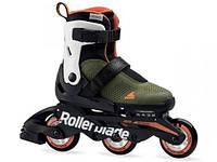 Роликовые коньки Rollerblade Microblade Free 3WD Military (зелено-оранжевые)