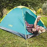Палатка туристична 2-х місцева для кемпінгу риболовлі природи і відпочинку 205 х 145 х 100 см BESTWAY 68084, фото 6