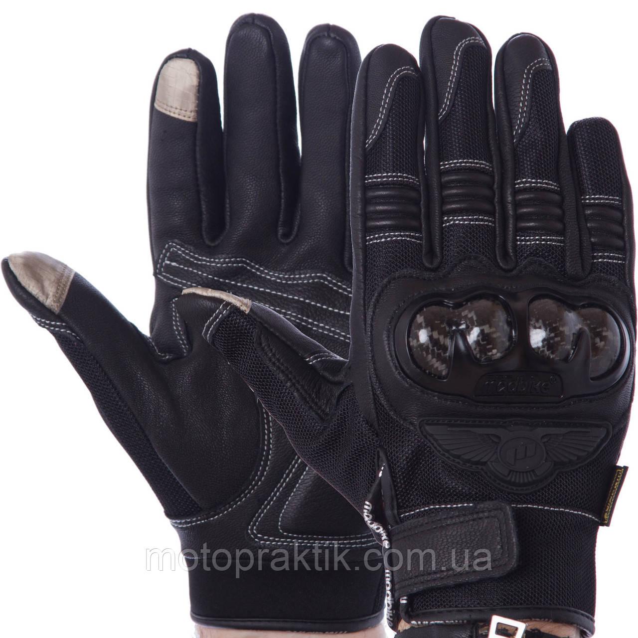 MADBIKE MAD-02 Gloves, Black, M, Мотоперчатки с защитой