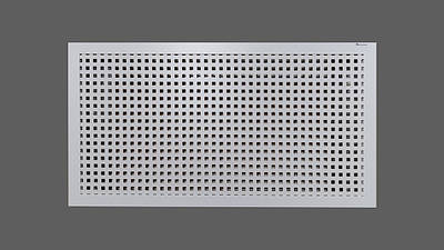 """Решетка на чугунную батарею """"Стандарт"""", 68 см х 128 см, цвет белый Лофт"""