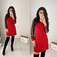 Модное стильное весеннее красивое женское платье 42 44 46 48 50 52. нарядное
