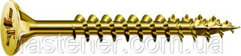 Саморез SPAX с покр. YELLOX 6,0х40, полная резьба, потай, PZ3, 4-CUT, упак. 500 шт., пр-во Германия
