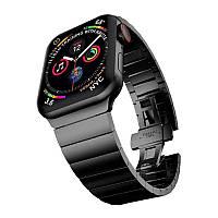 Универсальный Металлический ремешок Браслет Черного цвета для Apple Watch 38-40 мм Black