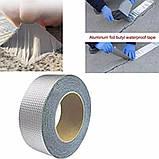 Понад міцна липка стрічка з алюмінієвим Шир. 5 см Товщ.  1.2 mm Довжина 10m, фото 4