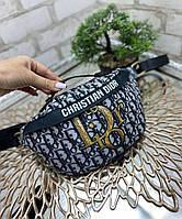 Яркая сумка-бананка молодежная модная сумочка через плечо текстиль