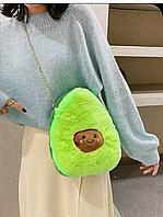 Сумка- игрушка для девочек на цепочке авокадо