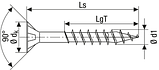 Саморез SPAX с покр. WIROX 6,0х150, частичная резьба, потай, PZ3, 4CUT, упак. 100 шт., пр-во Германия, фото 3
