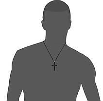 Чоловічий Браслет пресованая шкіра 21 см, фото 3
