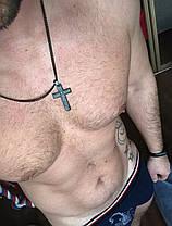Чоловічий Браслет пресованая шкіра 21 см, фото 2