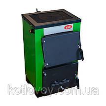 Твердопаливний котел з плитою Вогник КОТВ-10П, фото 2
