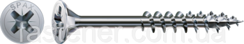 Саморез SPAX с покр. WIROX 6,0х180, частичная резьба, потай, PZ3, 4CUT, упак. 100 шт., пр-во Германия